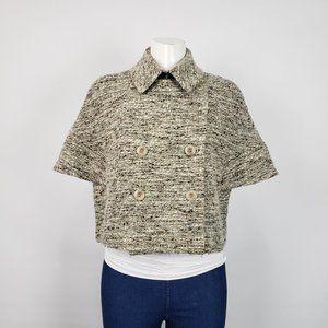 Max Mara Grey & Taupe Tweed Jacket Size 12